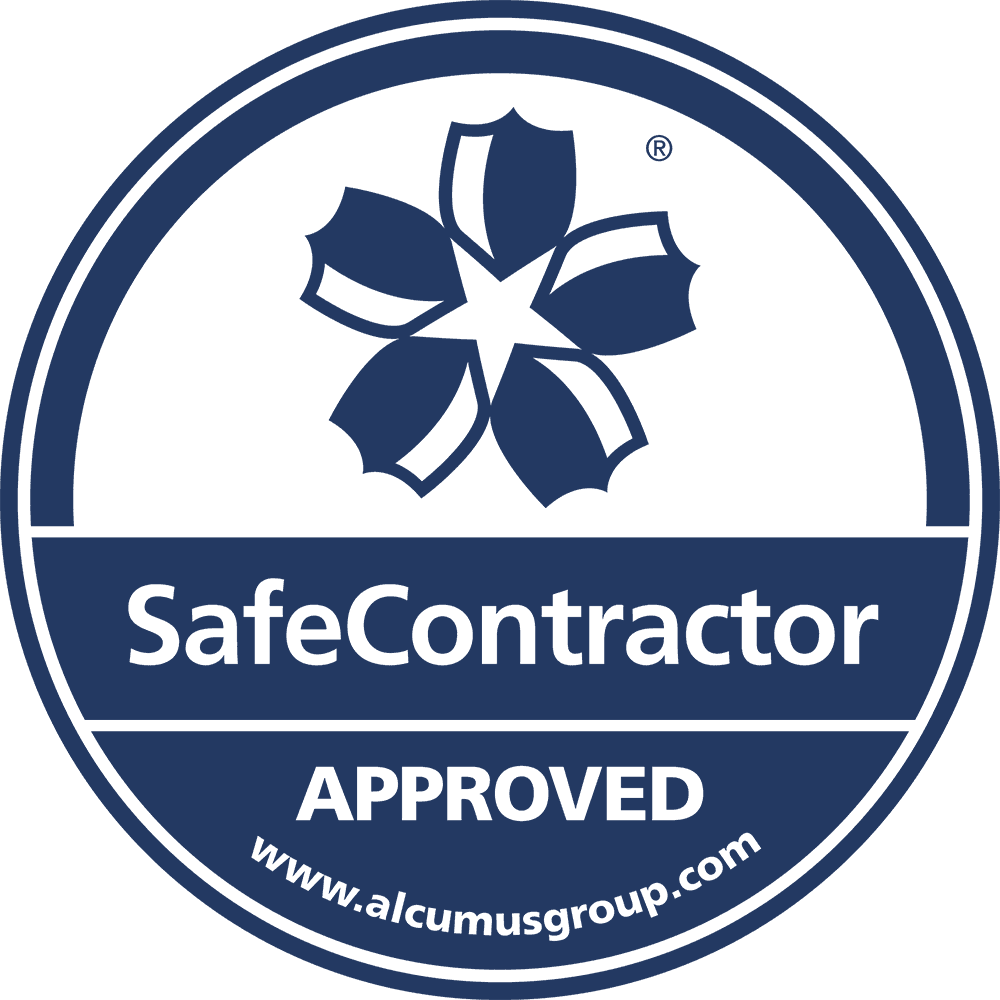 SafeContractor Accreditation Sticker-blue