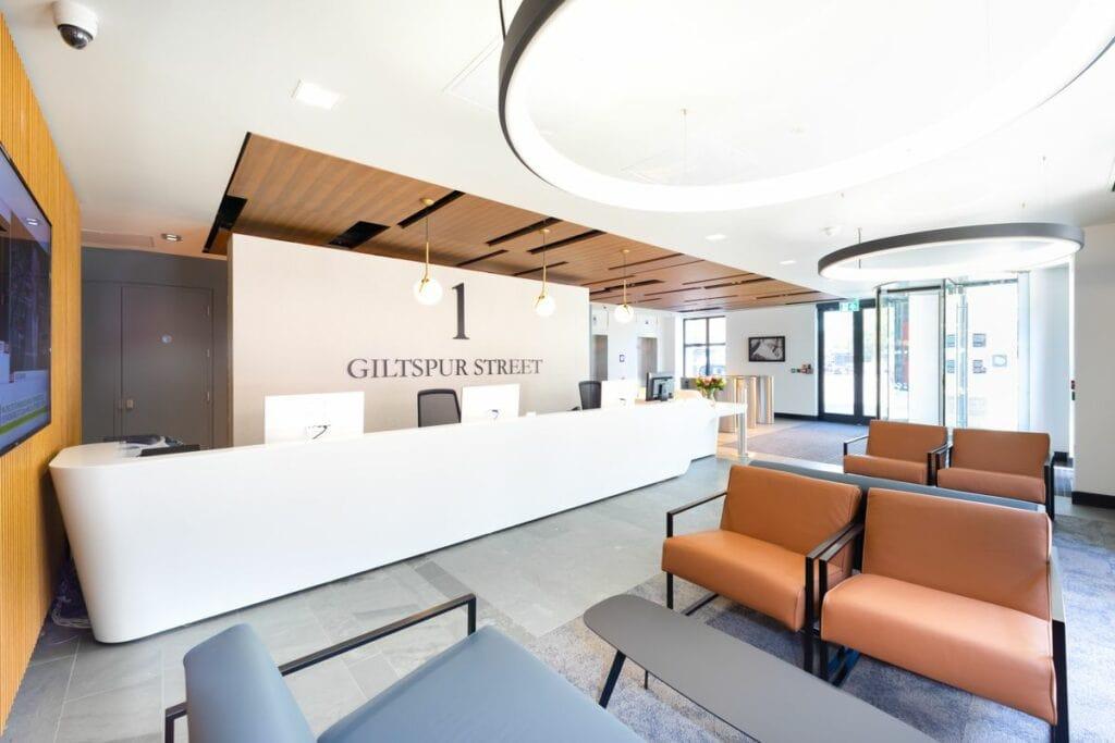 Giltspur Street (Farringdon) reception